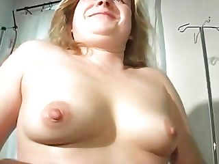 90s Fatty German Cougar Unclothes And Passionately Fucks With Big Fuck Stick